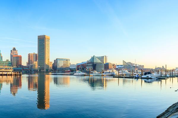Skyline of Baltimore, Maryland