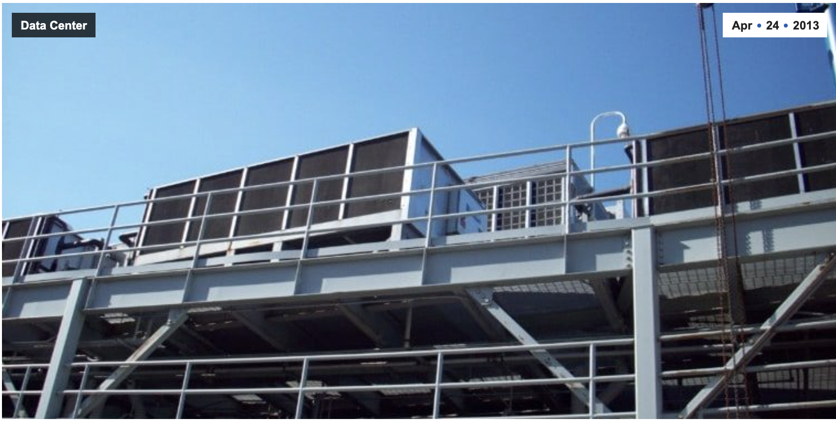 Data Center uses MeeFog™ for AC Condenser Cooling